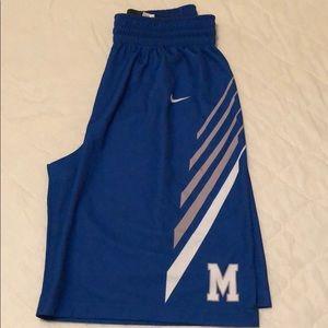 Nike - Univ. Of Memphis Basketball Shorts. Large